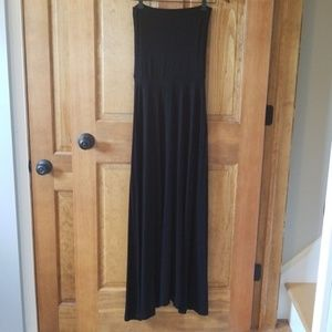 Gap Black Strapless Maxi Dress Convertible Skirt